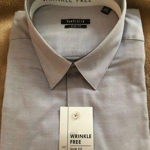 NWT wrinkle free Van Heusen slim fit shirt